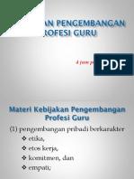Materi Kebijakan Pengembangan Profesi