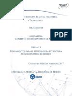 Fundamentos para el estudio de la estructura socio-económica de México