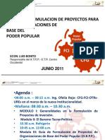 Taller de Formulación de Proyectos Obpp 09-06-11