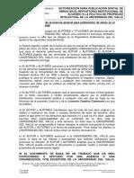 Autorizacion Para Publicacion Digital en Biblioteca