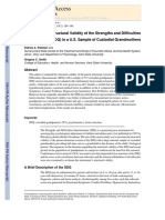 Examining the Structural Validity of the Strengths and Difficulties