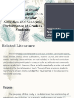 Ppt Correlational Study Between Participation in Extracurricular