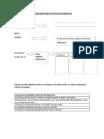 Organizador Gráfico Articulo Informativo