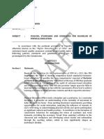 Draft PSG for the Bachelor of Physical Education Program