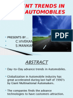 RECENT TRENDS IN  AUTOMOBILES.pptx