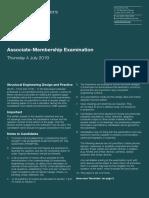 Exam Preparation Associate Member Past Paper 20190704