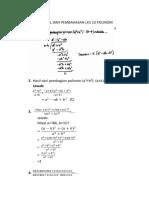 Soal Dan Pembahasan Lks 10 Materi Polinomial
