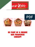 Chopking Restaurant Franchise Info Pack
