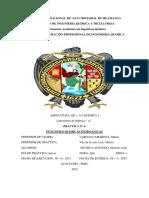 practica de laboratorio n°6  FUNCIONES QUIMICAS INORGANICAS