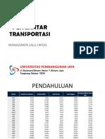 Slide TSP212 PERTEMUAN 12 13 Manajemen Lalu Lintas