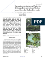 Phytochemical Screening, Antimicrobial Activities and Functional Groups Determination of Isolate Organic Compound from the Barks of Avocado