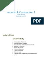 LECTURE 3 Concrete