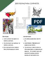 Crucigrama Del Proyecto Leer y Compartir Poemas