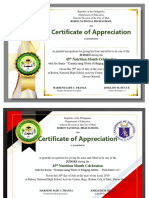 Nutrition  Month Certificate