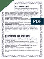 Common Ear Ailments