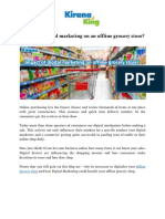 Impact of Digital Marketing on Offline Grocery Store