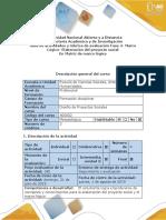 Guía de Actividades y Rúbrica de Evaluación - Fase 4 - Marco Lógico - Elaboración Del Proyecto Social en Matriz de Marco Lógico (2) (3)