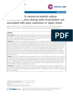Persistently High Venous-To-Arterial Carbon Dioxide Differences During Early Resuscitation Are Associated With Poor Outcomes in Septic Shock