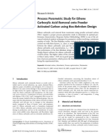 Process Parametric Study for Ethene Carboxylic Acid Removal Onto Powder Activated Carbon Using Box-Behnken Design