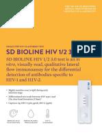 Alere SD Bioline HIV 1/2 brochure