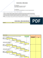 5 Whys Analysis Sheet