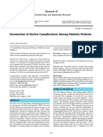 Domination of Gastric Complications Among Diabetic Patients (Letter to the editor)