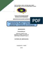 Monografia Objetivos en La Educacion Superior