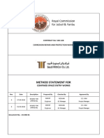 Method Statement-Confined Space Entry