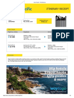 Cebu Pacific - Print Itinerary
