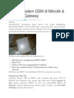 Dial Up Modem GSM Di Mikrotik