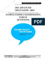 sample paper for jee advanced