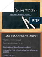 Characteristics of an Effective Teacher
