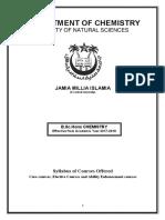 Syllabus of b.sc hons  chemistry in jmi