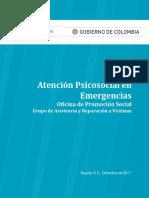 Atencion Psicosocial en Emergencias