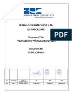 SCTPL Q SP 002 A1 Vaccum Box Testing Procedure