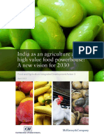 India as an Agriculture and High Value Food Powerhouse a New Vision for 2030_Report