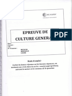 Epreuve Culture Gle