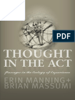 Preview of Thought in the Act Erin Manning