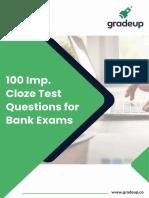 100 Cloze Test Questions