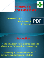 Pharmacy and scope of pharmacy Ppt