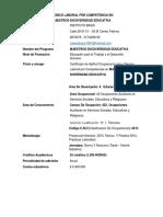 Técnico Laboral Por Competencia en Educacion Diversa