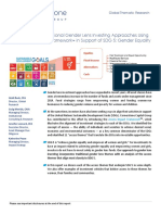 Advancing the Gender Lens Framework (published by Cornerstone Capital).