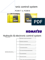Electronic Control System PC200-7 vs -8