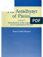 Volume 1-Introduction to the Astadhyayi as a Grammatical Device