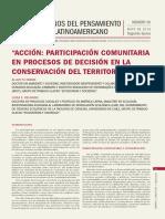 Acción comunitaria en procesos de conservación del territorio