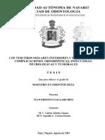 2001 Los Terceros Molares Inferiores y Su Relacion en Complicaciones Ortodonticas Infecciosas Neurologicas y Tumorales