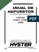 Manual de Respuestos Fortis h135ft, h155ft (j006)
