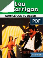 Cumple Con Tu Deber - Lou Carrigan