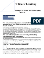 3 Powerful Tools to Delete Self-Sabotaging Patterns