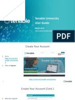 User Guide- Tenable University
